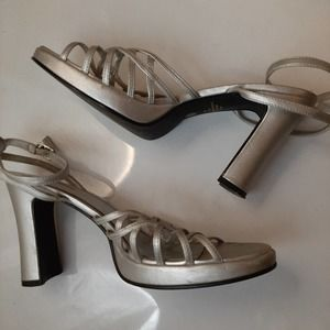 VSCO Seventeen Strappy Holographic Heels